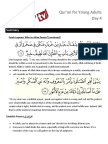 Quran for Young Adults Day 4
