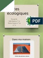 Gestes Écologiques 9ºA
