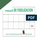 Tarjea de Fidelizacion