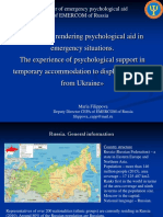 Experience of Psychological Support in Temporary Accommodation to Displaced Persons From Ukraine