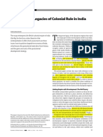 The Economic Legacies of Colonial Rule in India