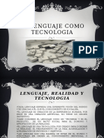 El Lenguaje Como Tecnologia