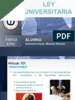 Ley Universitaria