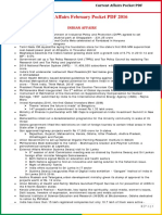 Current Affairs February Pocket PDF 2016 by AffairsCloud