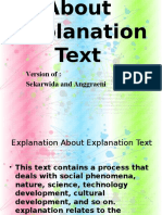 Explanation About Explanation Text