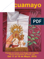 Programa de Fiestas Pascuamayo 2016, Santisteban del Puerto