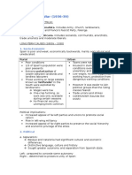 Causes of Spanish Civil War notes