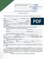 Cerere de Inscriere Admitere in Facultate 2015 2016