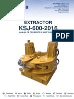 Manual de Mantenimiento y Operacion Extractor Ref. KSJ-600-2016