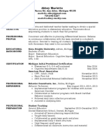 abbey resume current 2016