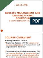 GBU205 Fundamentals Concepts of OB (F) - LECT 1