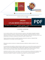 Uredba o Planu Mreze Zdravstvenih Ustanova