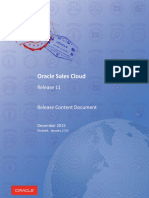 Oracle Sales Cloud Release 11