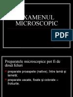 Examenul Microscopic - MICROBIOLOGIE