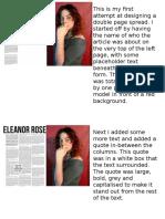 Double Page Spread Progress