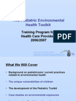 Training Program for Health Care Providers regarding toxic chemicals and children