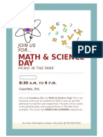 math   science day flyer