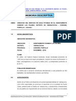 1. Memoria Descriptiva - Pozo Las Palmas