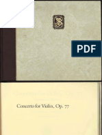 Brahms Violin Concerto Manuscript Score