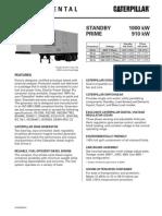 Caterpillar XQ1000 Containerized Diesel Generator Set