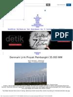 Denmark Lirik Proyek Pembangkit 35.000 MW di Indonesia