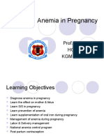Obgyn Anemia in Pregnancy for UG Class