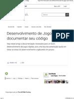 Desenvolvimento de Jogos Como Documentar Seu Código