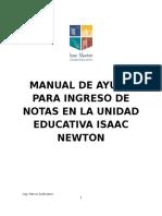 Manual de Ayuda Para Ingreso de Notas en La Unidad Educativa Isaac Newton