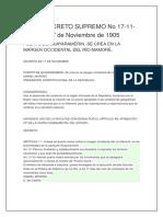 Bolivia Decreto Supremo No 17