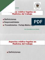Aspectos Medico-legales en El Ejercicio de La Medicina Del Trabajo