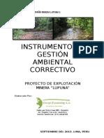 Ejemplo de Instrumento Gestion Ambiental Correctivo Lupuna