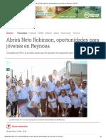 05-07-2016 Abrirá Neto Robinson, Oportunidades Para Jóvenes en Reynosa