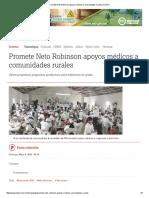 05-08-2016 Promete Neto Robinson Apoyos Médicos a Comunidades Rurales