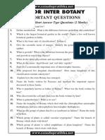 Jr Botany Imp Questions