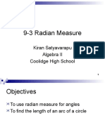 14-3 radian and degree measure