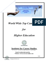 World Wide Top Campuses for Higher Education