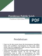 Pemikiran Politik Syiah