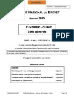 BREVET Sciences-physiques 2015