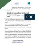 """Fundación Telefónica y Movistar inician en Cuenca la capacitación para """"Generaciones Interactivas"""""""