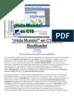 """""""¡Hola Mundo!"""" en C18 (Con Bootloader"""