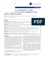 Risk of Bacterial Contamination of Bone Harvesting