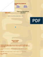 Education for a Culture of Peace Bibliography