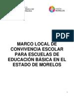MORELOS - Marco Local Convivencia Escolar 2015