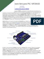 Amicus Software Libre Para PIC 18F25K20