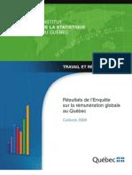 Enquête sur la rémunération globale au Québec 2009