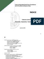 Tabla Indice 2012