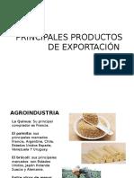 PRINCIPALES PRODUCTOS DE EXPORTACION
