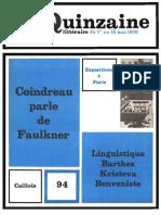 Quinzaine littéraire 94, mai 1970