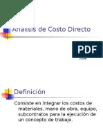 An LisisCostoDirectoConcreto
