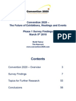 Convention 2020 Phase 1 Survey Report March 5th 2010